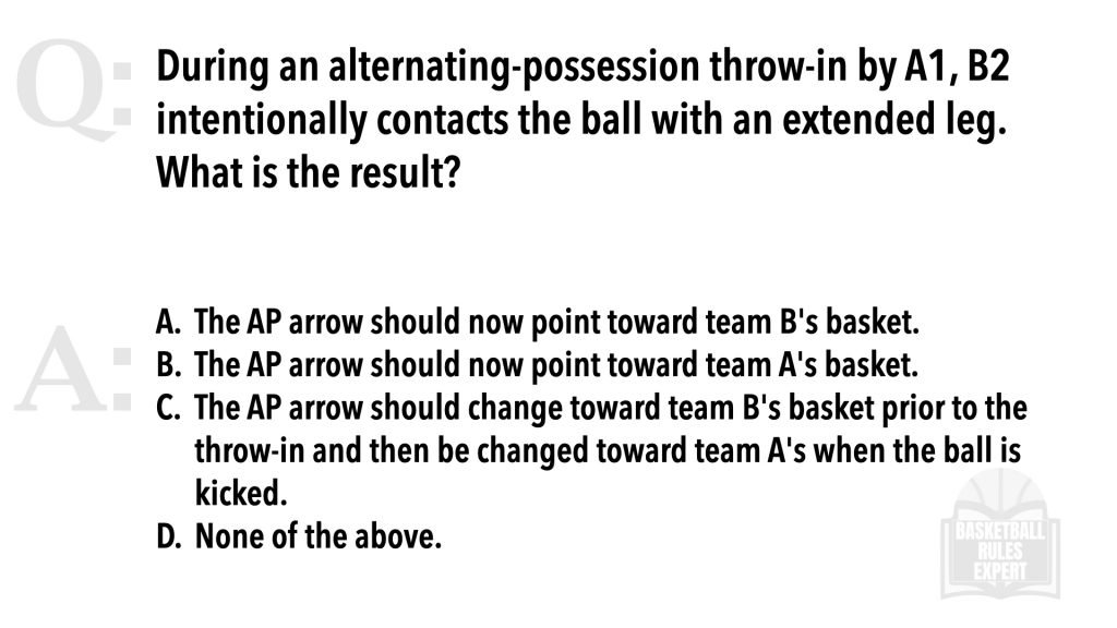 Referee the throw-in in high school basketball NFHS