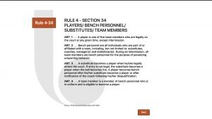 Rule 4-34 Players, Bench Personnel, Substitutes, Team Members