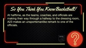 Bench Technical Foul So You Think You Know Basketball Q1