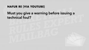 Q8 - Always a warning before a Technical?